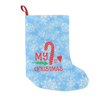 My 1st Christmas Candy Cane Small Christmas Stocking