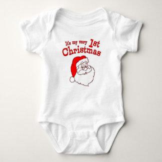 My 1st Christmas Santa Baby Bodysuit