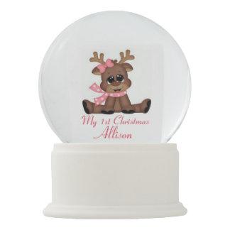 My 1st Christmas Snowglobe/Reindeer Snow Globe