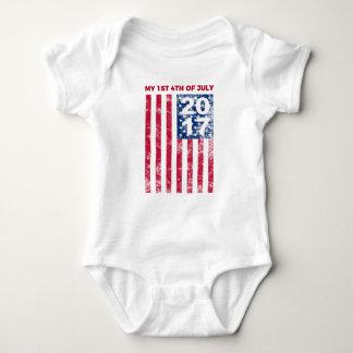 My 1st Fourth Of July 2017 Commemorative Baby Bodysuit