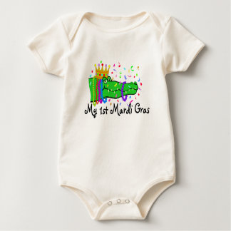 My 1st Mardi Gras Gator Baby Bodysuit