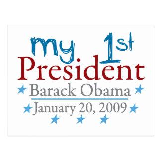 My 1st President (Barack Obama) Postcard
