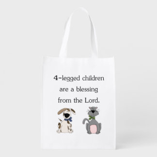 My 4-legged children are a blessing... reusable grocery bag