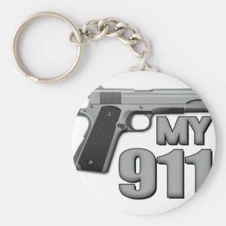 MY 911! BASIC ROUND BUTTON KEYCHAIN