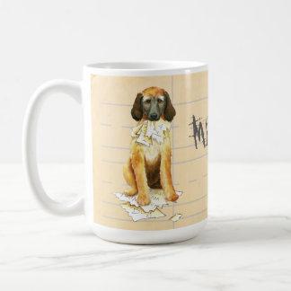My Afghan Hound Ate my Homework Coffee Mug