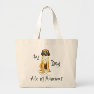 My Afghan Hound Ate my Homework Large Tote Bag