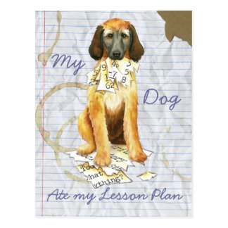 My Afghan Hound Ate my Lesson Plan Postcard