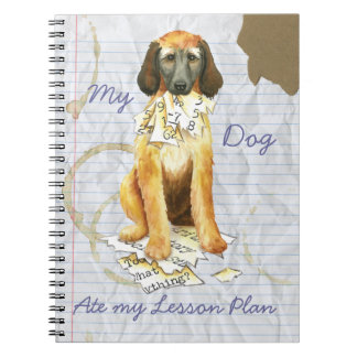 My Afghan Hound Ate my Lesson Plan Spiral Notebook