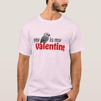 My African Grey Is My Valentine T-Shirt