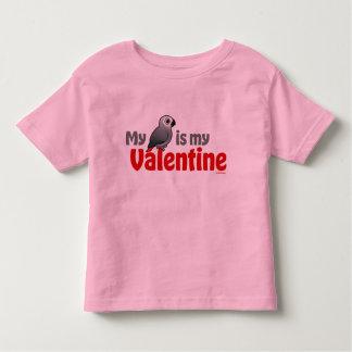 My African Grey Is My Valentine Toddler T-shirt