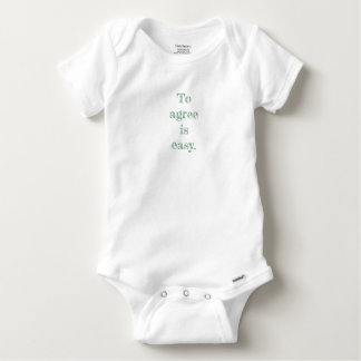 My Agree Quote Baby Bodysuit