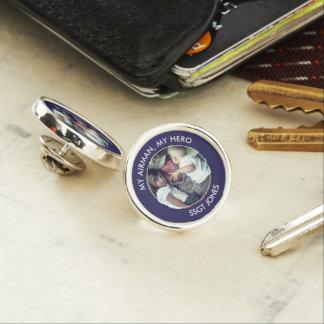 My Airman, My Hero Custom Photo Lapel Pin