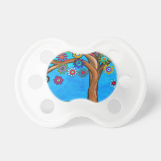 MY ALLY TREE OF LIFE WHIMSICAL PAINTING BABY PACIFIER
