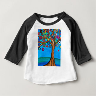 MY ALLY TREE OF LIFE WHIMSICAL PAINTING BABY T-Shirt
