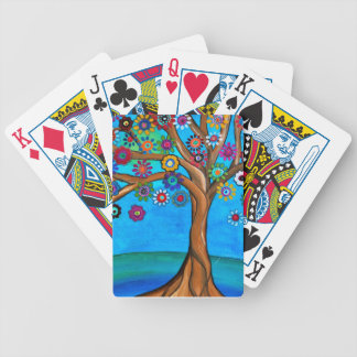 MY ALLY TREE OF LIFE WHIMSICAL PAINTING BICYCLE PLAYING CARDS