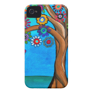MY ALLY TREE OF LIFE WHIMSICAL PAINTING Case-Mate iPhone 4 CASES