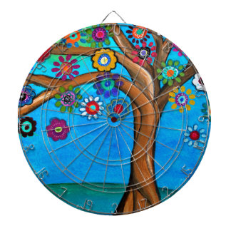 MY ALLY TREE OF LIFE WHIMSICAL PAINTING DARTBOARD