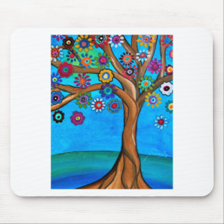 MY ALLY TREE OF LIFE WHIMSICAL PAINTING MOUSE PAD