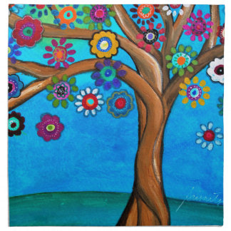 MY ALLY TREE OF LIFE WHIMSICAL PAINTING NAPKIN