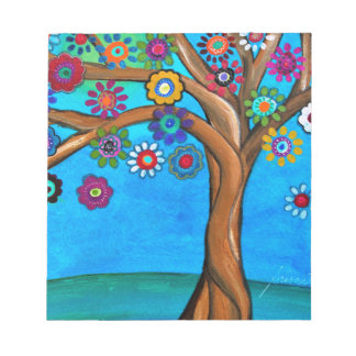 MY ALLY TREE OF LIFE WHIMSICAL PAINTING NOTEPAD