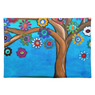 MY ALLY TREE OF LIFE WHIMSICAL PAINTING PLACEMAT
