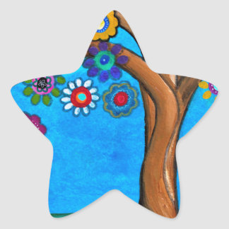 MY ALLY TREE OF LIFE WHIMSICAL PAINTING STAR STICKER