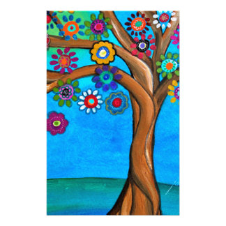 MY ALLY TREE OF LIFE WHIMSICAL PAINTING STATIONERY