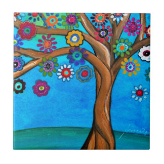 MY ALLY TREE OF LIFE WHIMSICAL PAINTING TILE