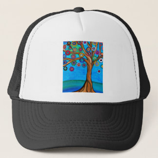MY ALLY TREE OF LIFE WHIMSICAL PAINTING TRUCKER HAT