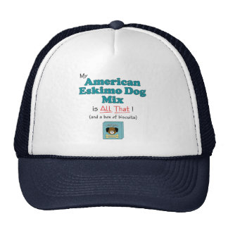 My American Eskimo Dog is All That Mesh Hat