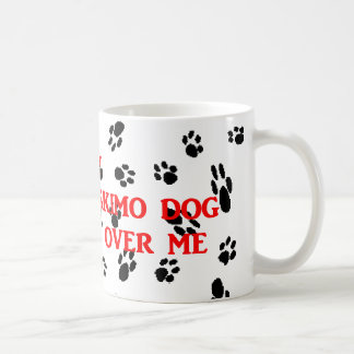 my american eskimo walks on me coffee mug