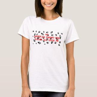 my american eskimo walks on me T-Shirt