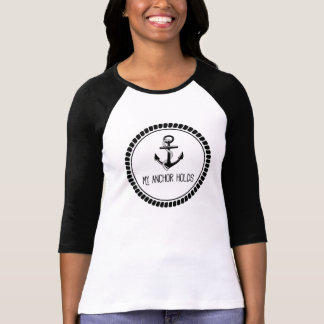 My Anchor Holds Hymn Quote Tee