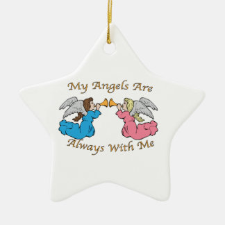 My Angels Are Always With Me Christmas Tree Ornament