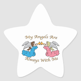 My Angels Are Always With Me Star Sticker