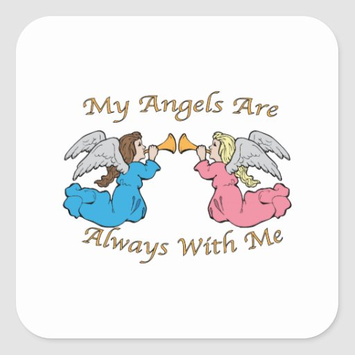 My Angels Are Always With Me Stickers
