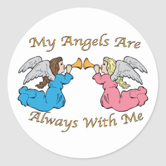 My Angels Are Always With Me Sticker