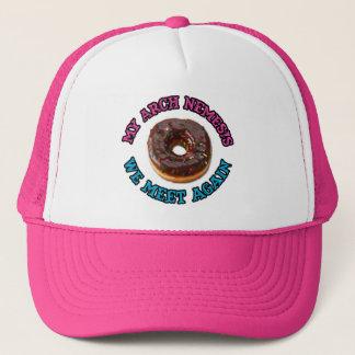 My arch nemesis...the evil doughnut! trucker hat
