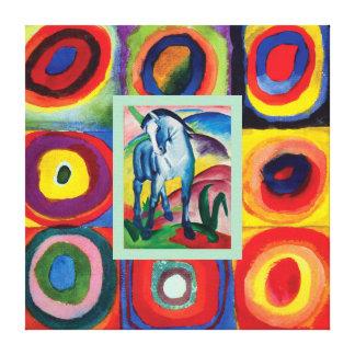 My Artful Blue Horse Canvas Print