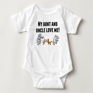 My Aunt And Uncle Love Me Baby Bodysuit