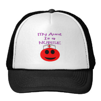 My Aunt is a Nurse RED SMILEY Trucker Hat