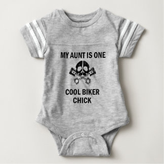 My Aunt Is One Cool Biker Chick Baby Bodysuit