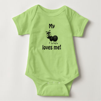 My aunt loves me - baby clothes baby bodysuit