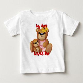 My Aunt Loves Me Teddy Bear Baby T-Shirt