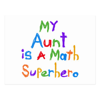 My Aunt Math Superhero T-shirts and Gifts Postcard