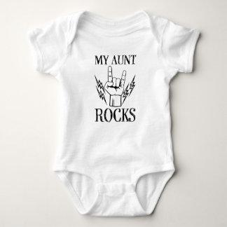 My Aunt Rocks funny baby shirt
