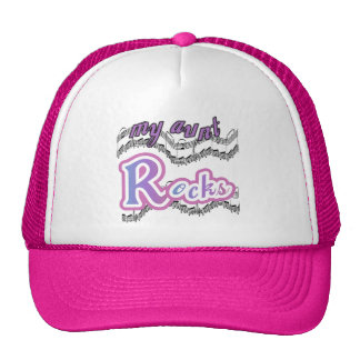 My Aunt Rocks Tshirts and Gifts Trucker Hat