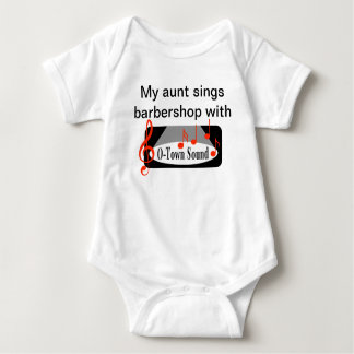 My Aunt Sings barbershop Baby Bodysuit