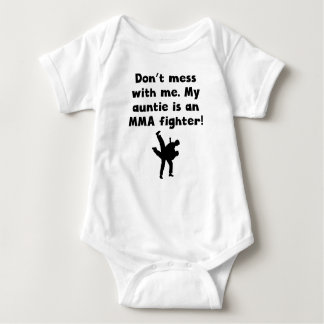 My Auntie Is An MMA Fighter Baby Bodysuit