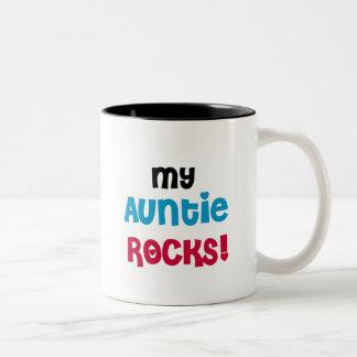My Auntie Rocks Tshirts and Gifts Two-Tone Coffee Mug